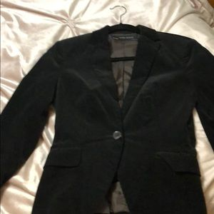 Zara corduroy black fitted blazer